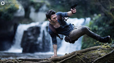 More Action - Nathan Drake Cosplay Uncharted 4 by LeonChiroCosplayArt