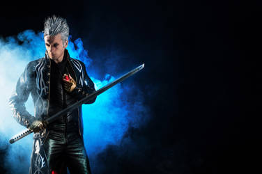 Vergil - Devil May Cry 4 Might Controls Everything by LeonChiroCosplayArt