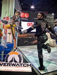 Leon Chiro - Tracer Gladdy Final Fantasy Overwatch by LeonChiroCosplayArt