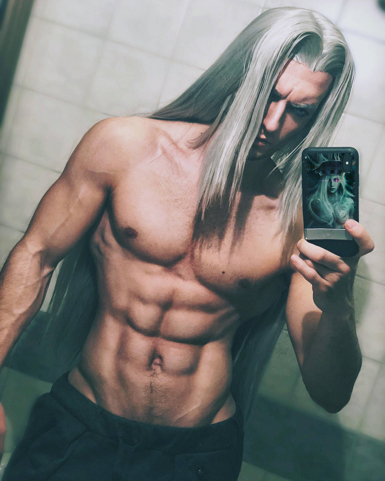 Sephiroth Cosplay Preview by Leon Chiro FFVII by LeonChiroCosplayArt