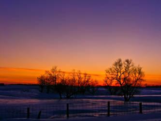 Winter Sunset 2 by tjsviews