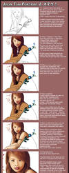 The making of Jolin Portrait 2 by grambo