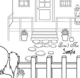 Sora's Inn Lineart by TalesOfLumin