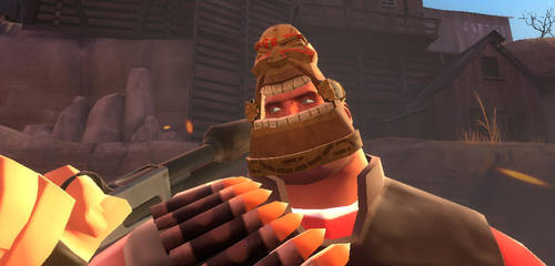 TF2 Heavy Tiki Mask In game by Blvd--Nights
