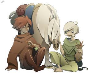 Zelda DR Art Trade by IJKelly