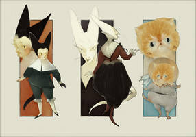 [CLOSED] Adoptables - Cat People (Auction) by IJKelly