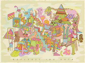 Refleksi Ibu Kota by keledai
