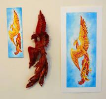 Phoenix Trio by Shalladdrin