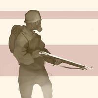 soldier sketch by JHKris