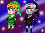 Oot Chibis Link and Dark Link by Rosegirl28