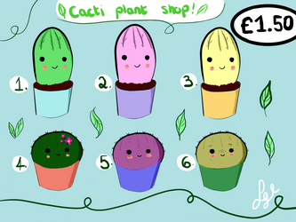 Cacti Adoptables :) (1.50 Paypal) by stormisnormal