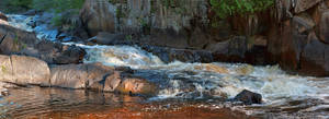 Early Light at Lower Dave's Falls by papatheo