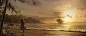 Sunset Sail by waza8i