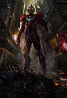 Ultraman poster by waza8i