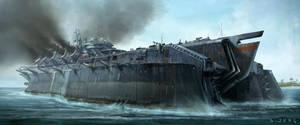 Carrier Battleship by waza8i