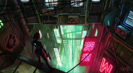 Neon Abyss by tonyskeor