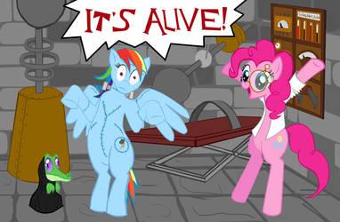 My Steampunk  Pony: The Pinkenstein Monster by SteamPoweredStallion