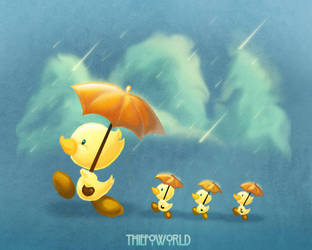pato and patitos by Thiefoworld