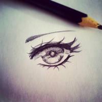 Eye Sketch by Melo-Cake