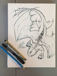 Toothless (Ink) by Farorest