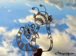 Papercut Creature by Dragons-Garden