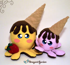 ChocoNana and ChocoBerry by Dragons-Garden