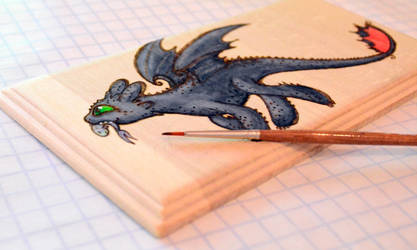 Wood painting - Work in progress by Dragons-Garden