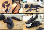Deathwing plushie WIP by Dragons-Garden