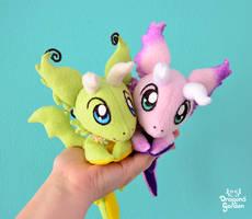 Mini beanie Dragons by Dragons-Garden