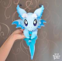 Blue Beanie Dragon Plushie by Dragons-Garden