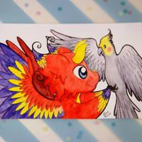 Parrot Dragon by Dragons-Garden
