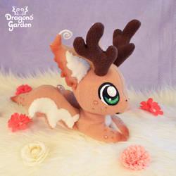 Dragons' Garden - Comet Santa's Reindeer Dragon by Dragons-Garden