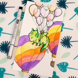 Dragons' Garden - Smaugust 6 Baloons Dragon by Dragons-Garden