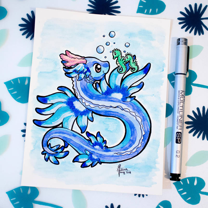 Dragons' Garden - Smaugust 10 Blue Dragon by Dragons-Garden