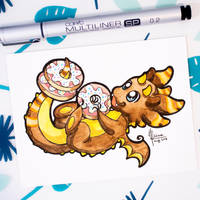 Dragons' Garden - Smaugust 17 Donut Dragon by Dragons-Garden