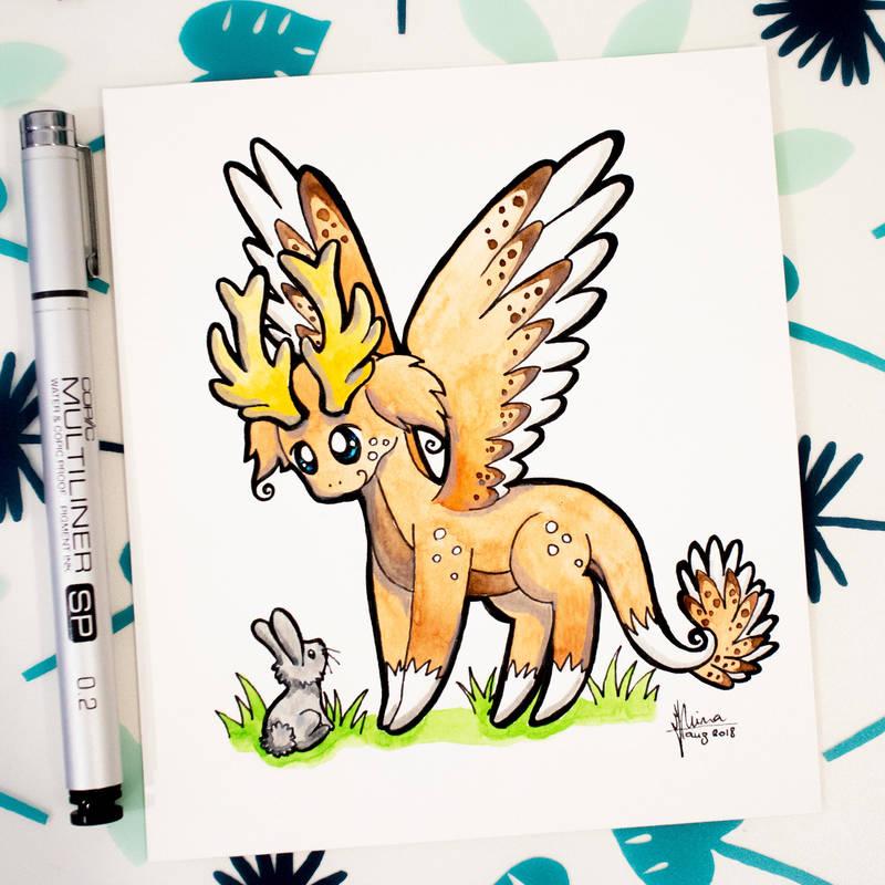 Dragons' Garden - Smaugust 18 Deer Dragon by Dragons-Garden