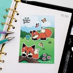 Dragons' Garden - Fox Garden Stickers by Dragons-Garden