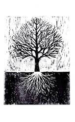 Tree - linocut by eat-my-pie