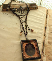 Ambrotype Assemblage Necklace by asunder