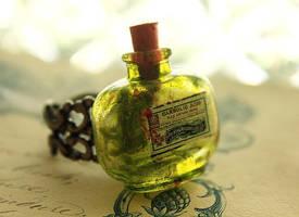 Glass Poison Bottle Ring by asunder