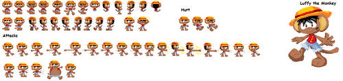 Luffy sprites-more will follow by LeniProduction