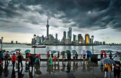Shanghai's waterfront by JingWeiLiu