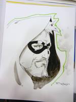 Green Arrow Con Sketch from Dallas Comic Con by aethibert