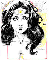 Wonder Woman doodle- SDCC 2014 by aethibert