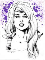 Amethyst Pre Con sketch -Indiana Comic Con 2015 by aethibert