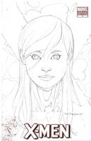 Psylocke pencil commission STX by aethibert