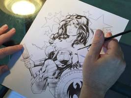 WIP   Wonder Woman commission by aethibert