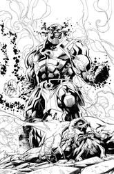 DARKSEID!  INKS from Wonderwoman, ENJOY!!! by aethibert