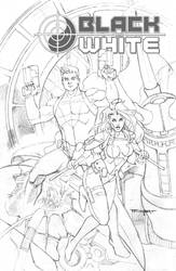 WIP Black and White cover sketch by aethibert