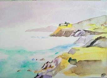 Speed Watercolor's landscape by misselo83